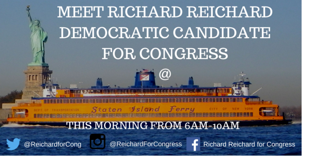 Meet Richard ReichardDemocratic Candidate for Congress at the Staten Island Ferry